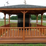 Dark red stained color Gazebo sample