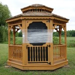 Natural wood color Gazebo sample
